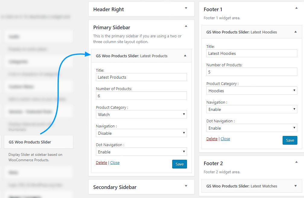 GS WooCommerce Product Slider Widget