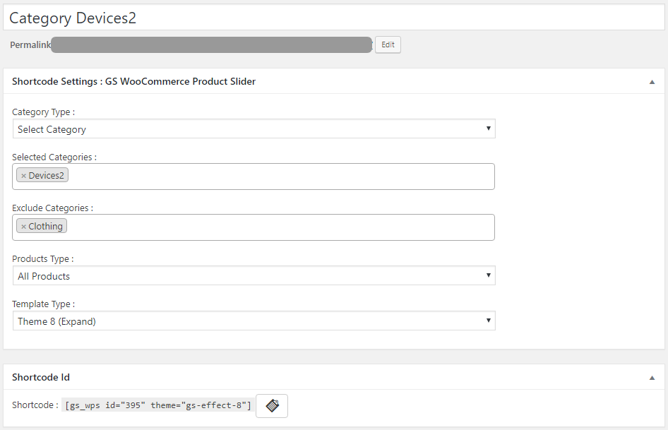 GS WooCommerce Product Slider Shortcode Generator