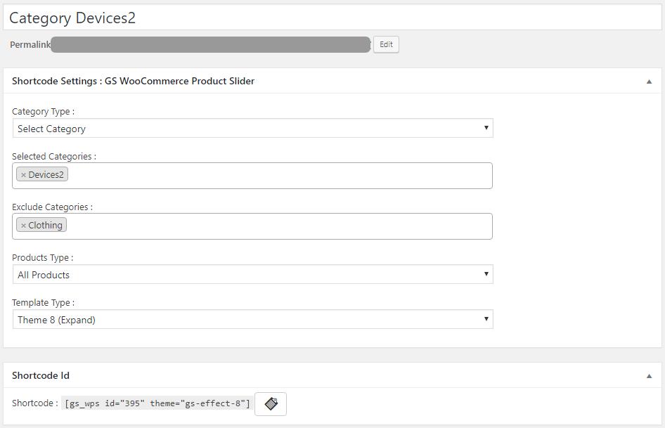 GS WooCommerce Product Slider Shortcode Generator
